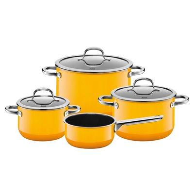 Kjelesett - Silit Passion Yellow 4 deler med kasserolle