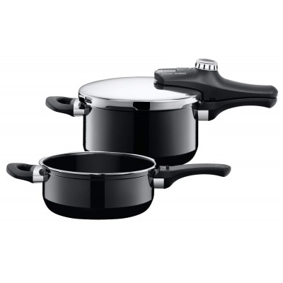Trykkoker - Sicomatic econtrol Duo Silargan Black 2 deler