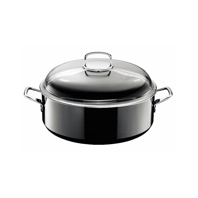 Ildfast Form med Lokk - Silit Silargan Black Ø 28 cm / V 6.0 L