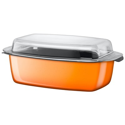 Ildfast Form med Lokk - Silit Passion Orange 5.3 L