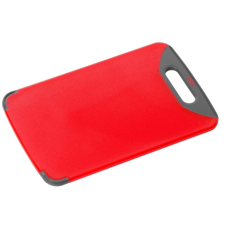 Silit Skjærebrett i rød med saftrille front
