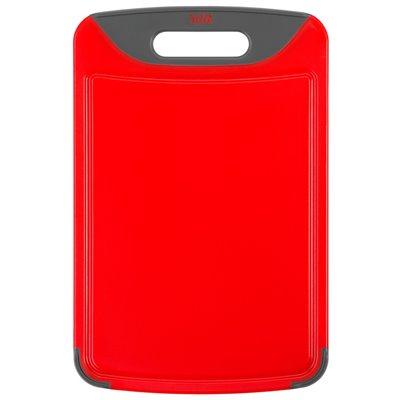 Silit Skjærebrett i rødt med saftrille