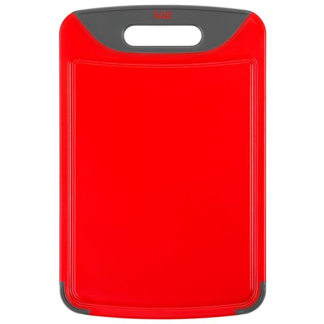 Silit Skjærebrett i rødt med saftrille front