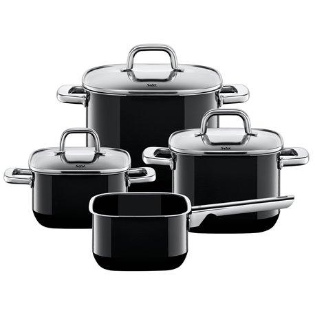 Kjelesett - Silit Quadro Black 4 deler