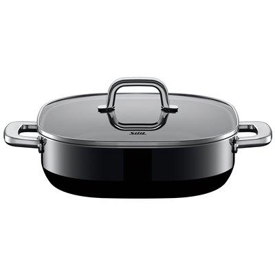 Sautepanne m/lokk - Silit Quadro Black 26x26 cm 2.0 L