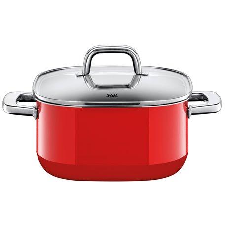 Gryte - Silit Quadro Red 22x22 cm 4.4 L