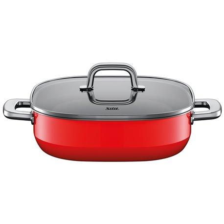 Sautepanne m/lokk - Silit Quadro Red 26x26 cm 2.0 L
