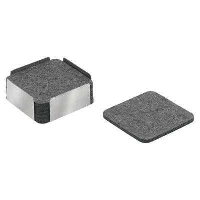 Filtunderlag - Carl Mertens Hampton 6 stk m/holder grå