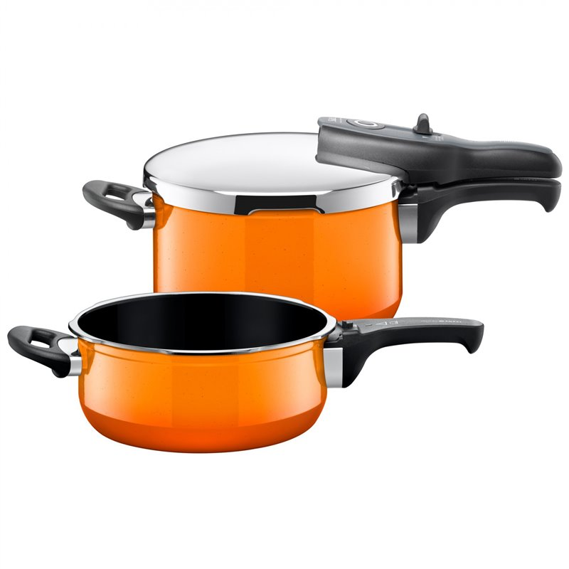 Trykkoker - Sicomatic t-plus Duo Passion Orange 2 deler